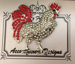 Red/White Monster Accoutrement Designs Needle Minder