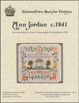 Ann Jordan c1841 Queenstown Sampler Designs Stitch count 274 high x 290 wide