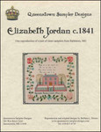 Elizabeth Jordan c1841 Queenstown Sampler Designs 265 high x 293 wide. YT