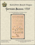 German Saxon 1737 415 high x 201 wide Queenstown Sampler Designs YT