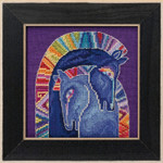 LB301713 Embracing Horses -  Horses Collection (Linen) (2017) Mill Hill Laurel Burch