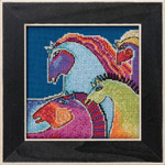LB301725 Wild Horses -  Horses Collection (Aida) (2017) Mill Hill Laurel Burch