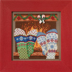 MH141733 Cozy Feet (2017)  Christmas Village Series Mill Hill Buttons and Bead Kit