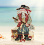 MH201733 Barbados Santa (2017)) Mill Hill Kit Santa Ornament Kit