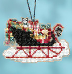 MH161732 Vintage (2017) Sleigh Ride Mill Hill Kit Charmed Ornament Kit