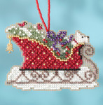 MH161734 Evergreen (2017) Sleigh Ride Mill Hill Kit Charmed Ornament Kit