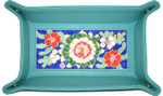"BAG74T Rectangular Snap Tray, Teal  9.5"" W x 6"" H x 2"" D  Lees NeedleArts"