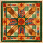 COLOR STUDY: FOUR WINDS W/EMB Laura J Perin Designs Counted Canvas Pattern Pattern Only