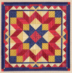 COLOR STUDY: LIBERTY STAR Laura J Perin Designs Counted Canvas Pattern Only
