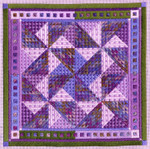 COLOR STUDY: PINWHEELS Laura J Perin Designs Counted Canvas Pattern Only