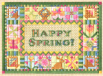 HAPPY EASTER, HAPPY SPRING! Laura J Perin Designs Counted Canvas Pattern Only
