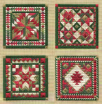 HOLIDAY ORNAMENTS #2 (CC) Average count 82 x 82 Laura J Perin Designs Counted Canvas Patternn Only