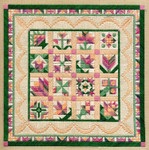 FLOWER SAMPLER Laura J Perin Designs Counted Canvas Pattern Only