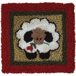 "Round Sheep Punch Needle Kit 3.25""X3.25"" Rachel's Of Greenfield"