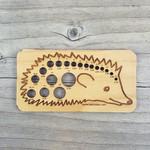 Hedgehog Knitting Needle Gauge  Katrinkles