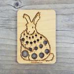 Angora Bunny Rabbit Knitting Needle Gauge  Katrinkles