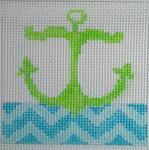 162 LA Anchor Lime Aqua 5x5  10 mesh Beth Gantz Designs
