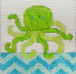 163 LA Octupus Lime Aqua5x5  10 mesh Beth Gantz Designs
