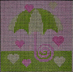 175 Lime Pink Umbrella 5x5 10 mesh Beth Gantz Designs