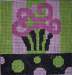 182Lime Pink Blk Cupcake5x5 10 mesh Beth Gantz Designs