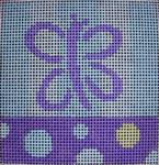 101 APAqua Purple Butterfly Stripes/Dots5x5 14 mesh Beth Gantz Designs