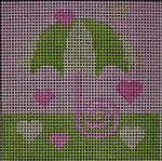 175 Lime Pink Umbrella 5x5  14 mesh Beth Gantz Designs
