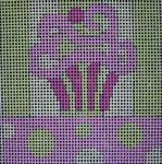 180 Lime Pink Cupcake 5x5  14 mesh Beth Gantz Designs