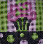 182 Lime Pink Blk Cupcake 5x5  14 mesh Beth Gantz Designs