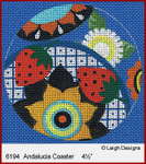 6194 Andalucia Coaster Leigh Designs 18 Count Canvas