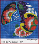 6196 La Paz Coaster Leigh Designs 18 Count Canvas