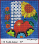 6190 Puebla Coaster Leigh Designs 18 Count Canvas
