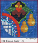 6192 Ensenada Coaster Leigh Designs 18 Count Canvas With STITCH GUIDE  by Pat Miller
