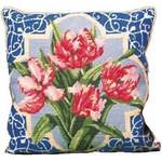 40013 Primavera Needlepoint Kit Pink Parrot Tulips