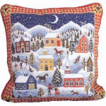 40045 Primavera Needlepoint Kit Winter Village