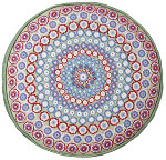 52002 Green Millefiori Round Cushion One Off Needlework