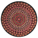 52001 Black Millefiori Round Cushion One Off Needlework