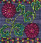 Mary Self Needlepoint Kit 7025 Napoli Flower Cushion