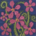 Mary Self Needlepoint Kit 7027 Tropical Flowers
