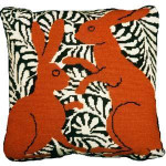 60010 Fine Cell Needlepoint Kit Brown Boxing Hare