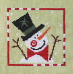 17-2046 ATO-XS16153 SPRIGHTLY SNOWMAN (CS) 72w x 71h Artful Offerings