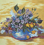 BR060 Barbara Russell Bowl Of Violets