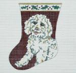 BR035 Barbara Russell Bichon Sock Ornament