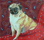 BR06 Barbara Russell Pug On Paisley