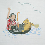 BR078 Barbara Russell Pooh Afloat