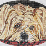 BR098 Barbara Russell Silky Terrier Oval