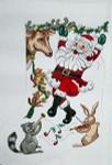 BR058 Barbara Russell Dancing Santa Stocking