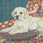 BR065 Barbara Russell Lab Puppy On Cushion