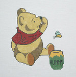 BR054 Barbara Russell Pooh With Honey Jar