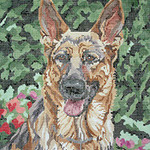BR074 Barbara Russell German Shepherd