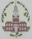 BR071E Barbara Russell independence Hall No Holly